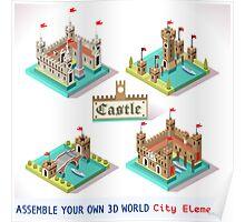 Medieval Castle Tiles Poster