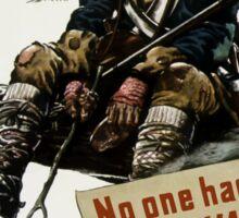 Valley Forge Soldier -- WW2 Propaganda Sticker