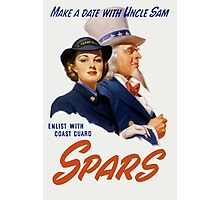 Make A Date With Uncle Sam -- Coast Guard Print Photographic Print
