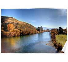 The Clutha River from Millers Flat Bridge Poster