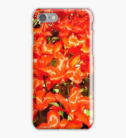 tulips field iPhone Case/Skin