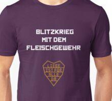 Blitzkrieg mit dem Fleischgewehr Unisex T-Shirt