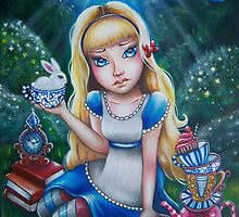 """Alice in Wonderland """"The Tea Party"""" by magicalspirit"""