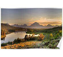 Snake River at Grand Tetons Poster