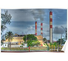 Power Plant at Clifton Pier in Nassau, The Bahamas Poster