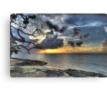Sunset over Love Beach in Nassau, The Bahamas Canvas Print