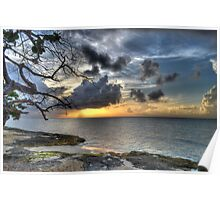 Sunset over Love Beach in Nassau, The Bahamas Poster