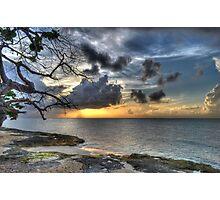 Sunset over Love Beach in Nassau, The Bahamas Photographic Print