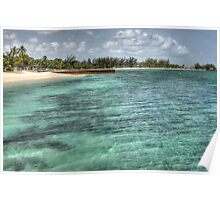 Junkanoo Beach in Nassau, The Bahamas Poster