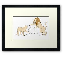 Snow Lions Framed Print