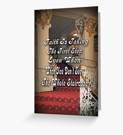 † ❤ † ❤ FAITH † ❤ † ❤ Greeting Card