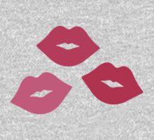 Pink Kiss Pattern One Piece - Short Sleeve