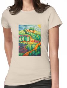 A Tuscan Sunset Womens Fitted T-Shirt