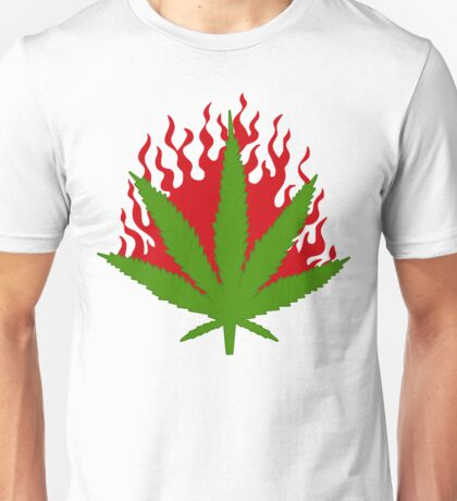 Burn Some Marijuana Unisex T-Shirt