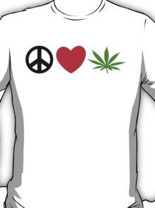 Peace Love Marijuana T-Shirt