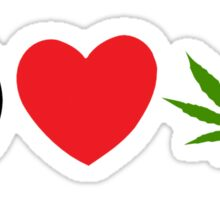 Peace Love Marijuana Sticker