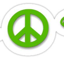 Marijuana Peace Mushrooms Sticker
