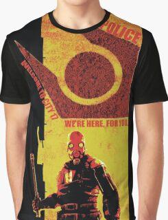 Half Life Metro Police Propaganda  Graphic T-Shirt