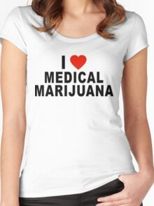 I Love Medical Marijuana Women's Fitted Scoop T-Shirt