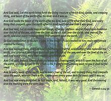 Genesis 1 24-31  Let the earth bring forth the living creature by Susan Savad