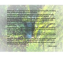 Genesis 1 24-31  Let the earth bring forth the living creature Photographic Print