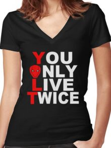 Red Hood: You Only Live Twice Women's Fitted V-Neck T-Shirt