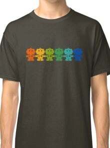 Rainbow Robots holding hands Classic T-Shirt