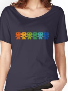 Rainbow Robots holding hands Women's Relaxed Fit T-Shirt