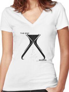 Unframed Ending (for light shirts) Women's Fitted V-Neck T-Shirt