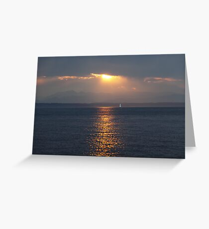 Sunset over Puget Sound Greeting Card
