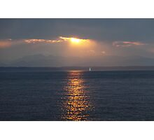 Sunset over Puget Sound Photographic Print