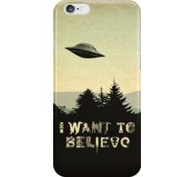 X-Phile: I WANT TO BELIEVE iPhone Case/Skin