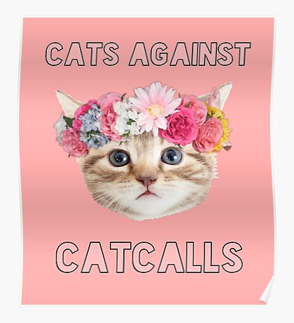 Cats Against Catcalls Poster