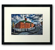 House on the Street Corner Framed Print