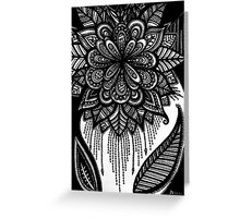 Pearly bloom Greeting Card
