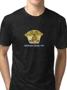 CUPCAKE THREE - PO parody Tri-blend T-Shirt
