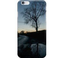 Holme Fen Drove, November, dusk iPhone Case/Skin