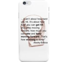 Rocky Balboa Illustrated Quote How Hard You Get Hit Boxing Glove Inspirational iPhone Case/Skin
