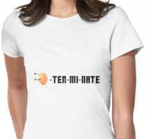 EGG-TER-MI-NATE Womens Fitted T-Shirt