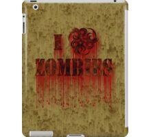 I Biohazard Zombies iPad Case/Skin