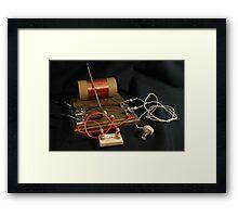 Crystal Diode Radio Framed Print