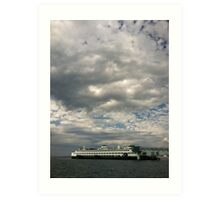 Ferry boat out of Edmonds, WA Art Print