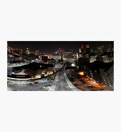 Distorted Detroit Cityscape Photographic Print