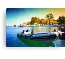 Blue Speeder Canvas Print