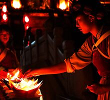Naxi Candles - Lijiang, China by Alex Zuccarelli