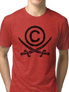 Copyright Piracy (Black) Tri-blend T-Shirt