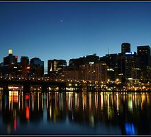 Darling harbour at twilight by mashdown