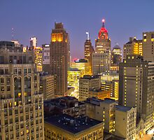 Detroit Cityscape by alexela