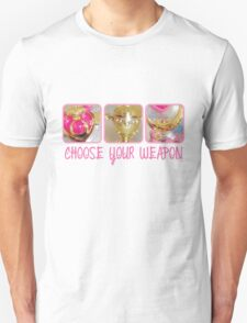 Choose Your Weapon Sailor Moon Style Unisex T-Shirt