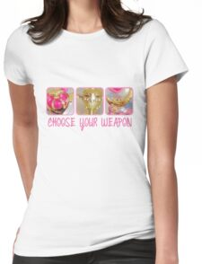 Choose Your Weapon Sailor Moon Style Womens Fitted T-Shirt